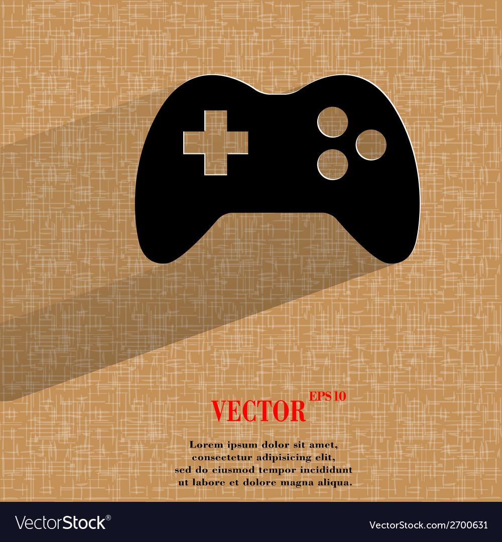 Gaming joystick flat modern web design on a flat vector | Price: 1 Credit (USD $1)