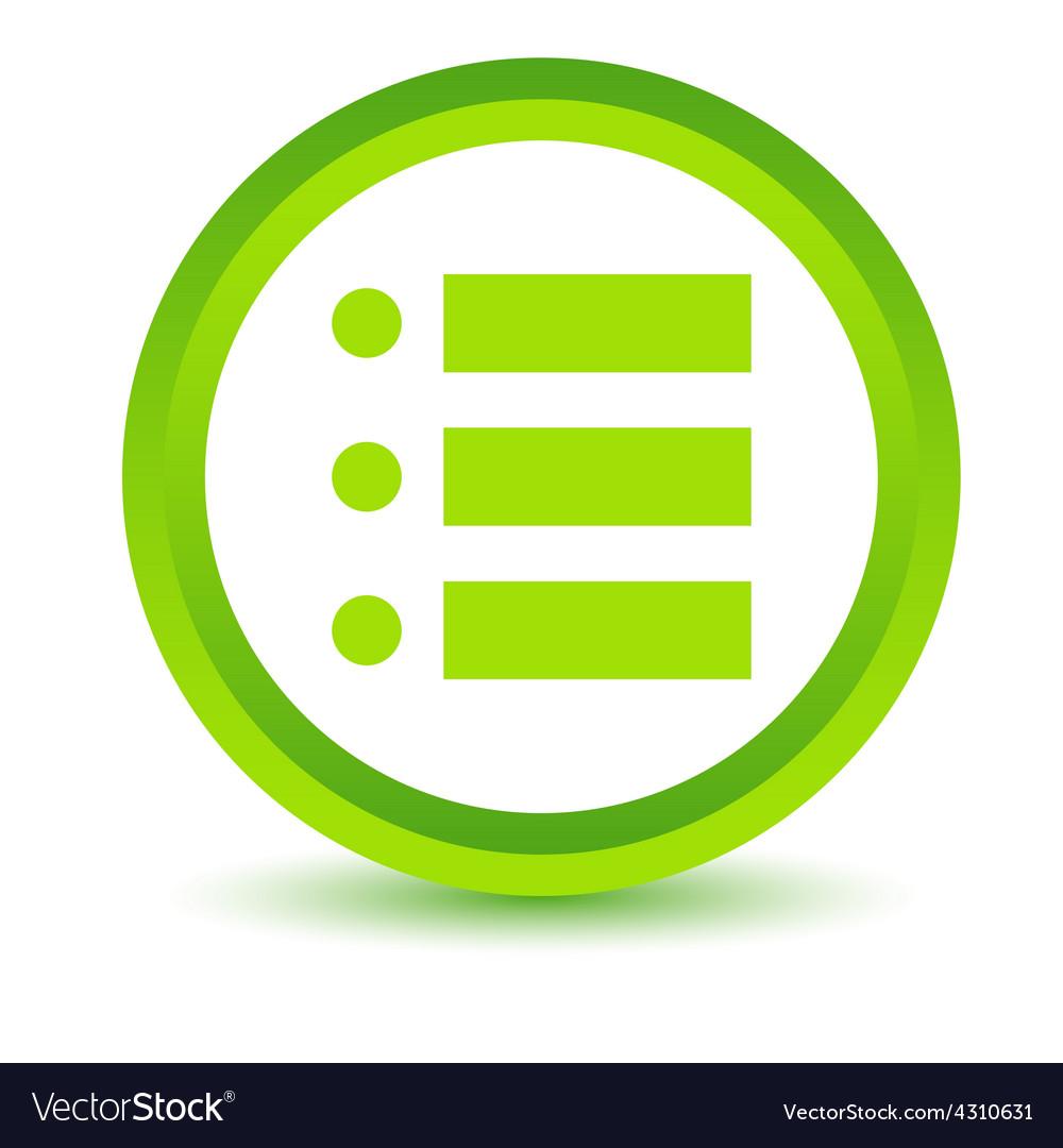 Green list icon vector | Price: 1 Credit (USD $1)