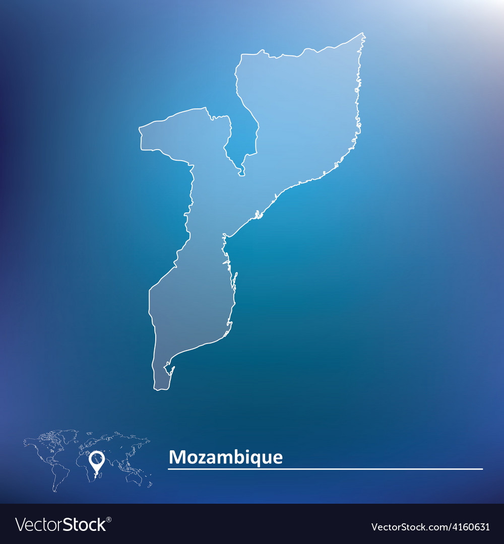 Map of mozambique vector | Price: 1 Credit (USD $1)