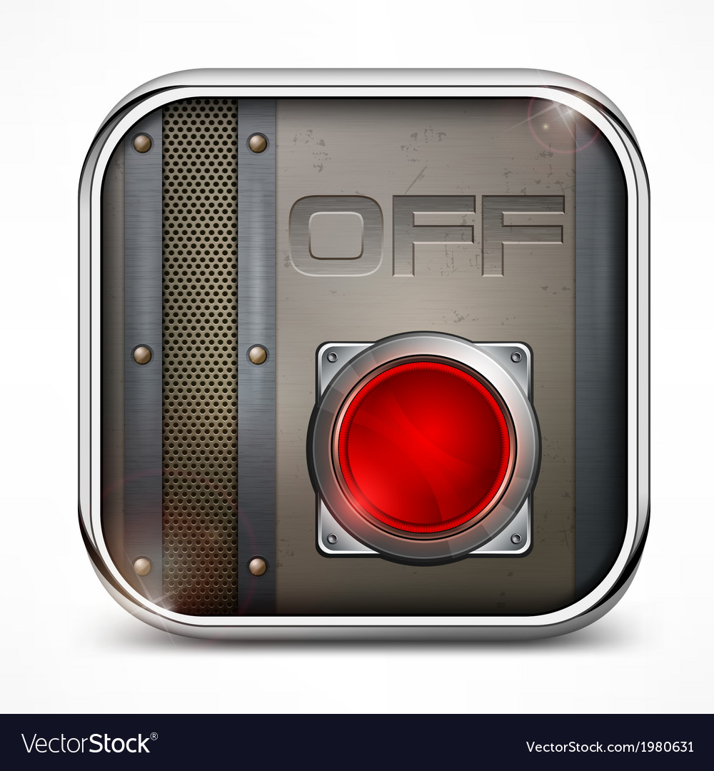 Off switch button vector | Price: 1 Credit (USD $1)