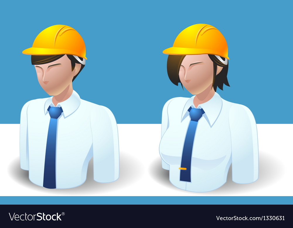 People icons engineer man and women vector | Price: 3 Credit (USD $3)