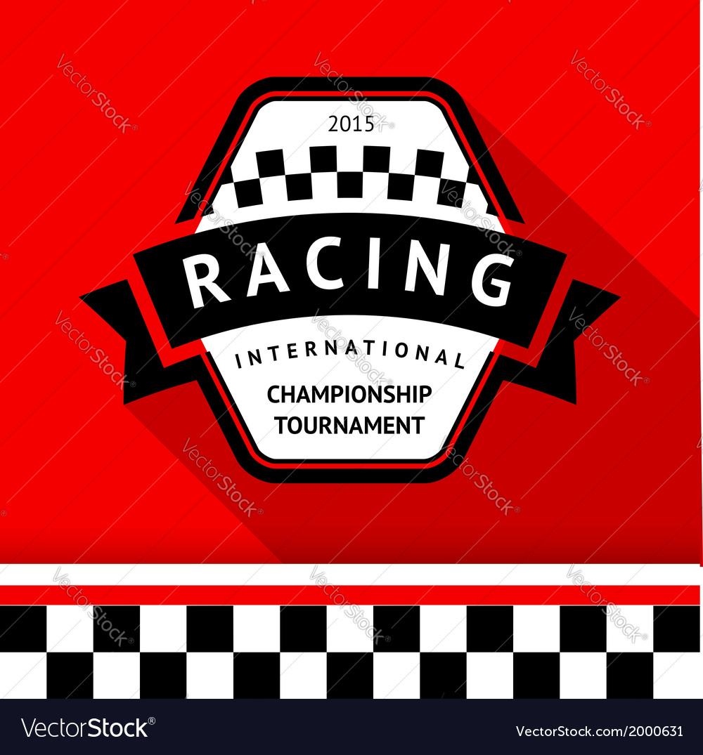 Racing badge 05 vector | Price: 1 Credit (USD $1)