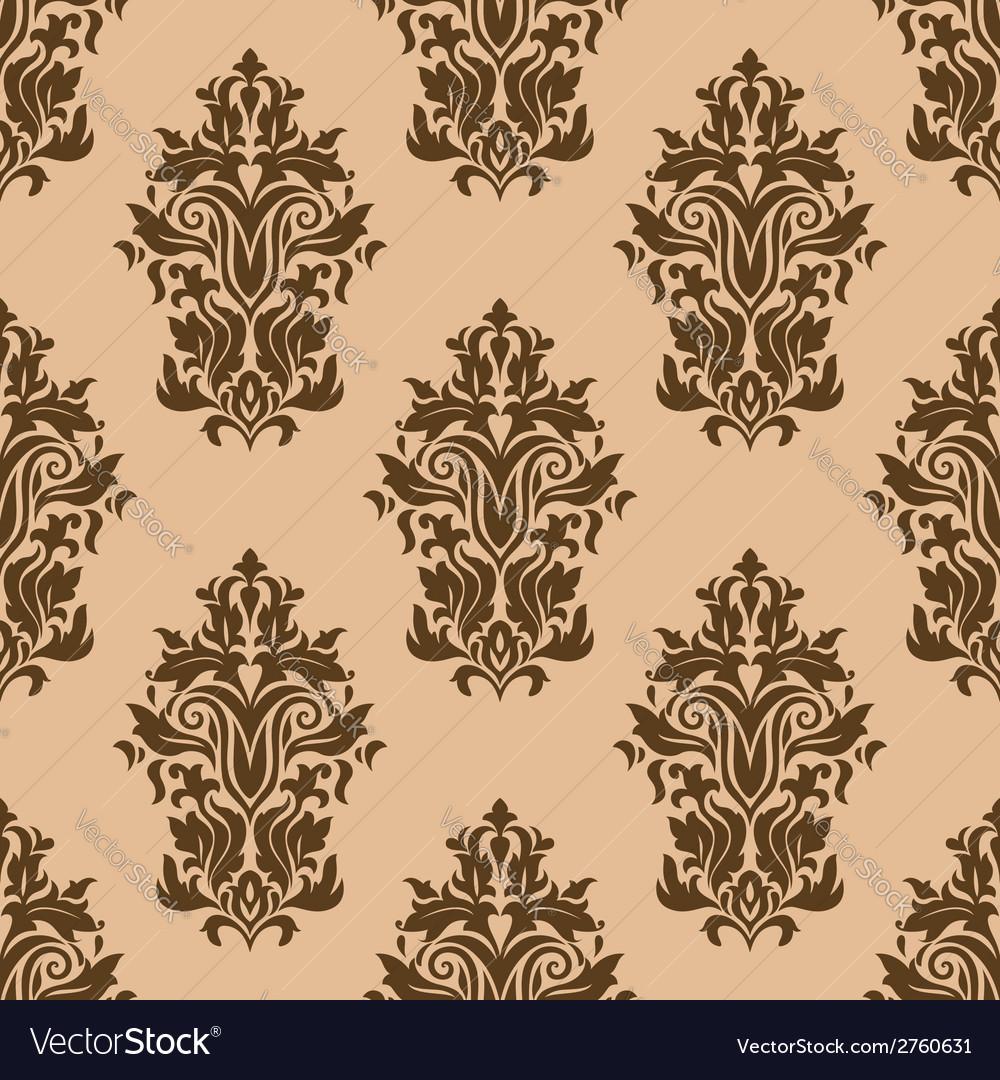 Retro dark brown seamless pattern vector | Price: 1 Credit (USD $1)