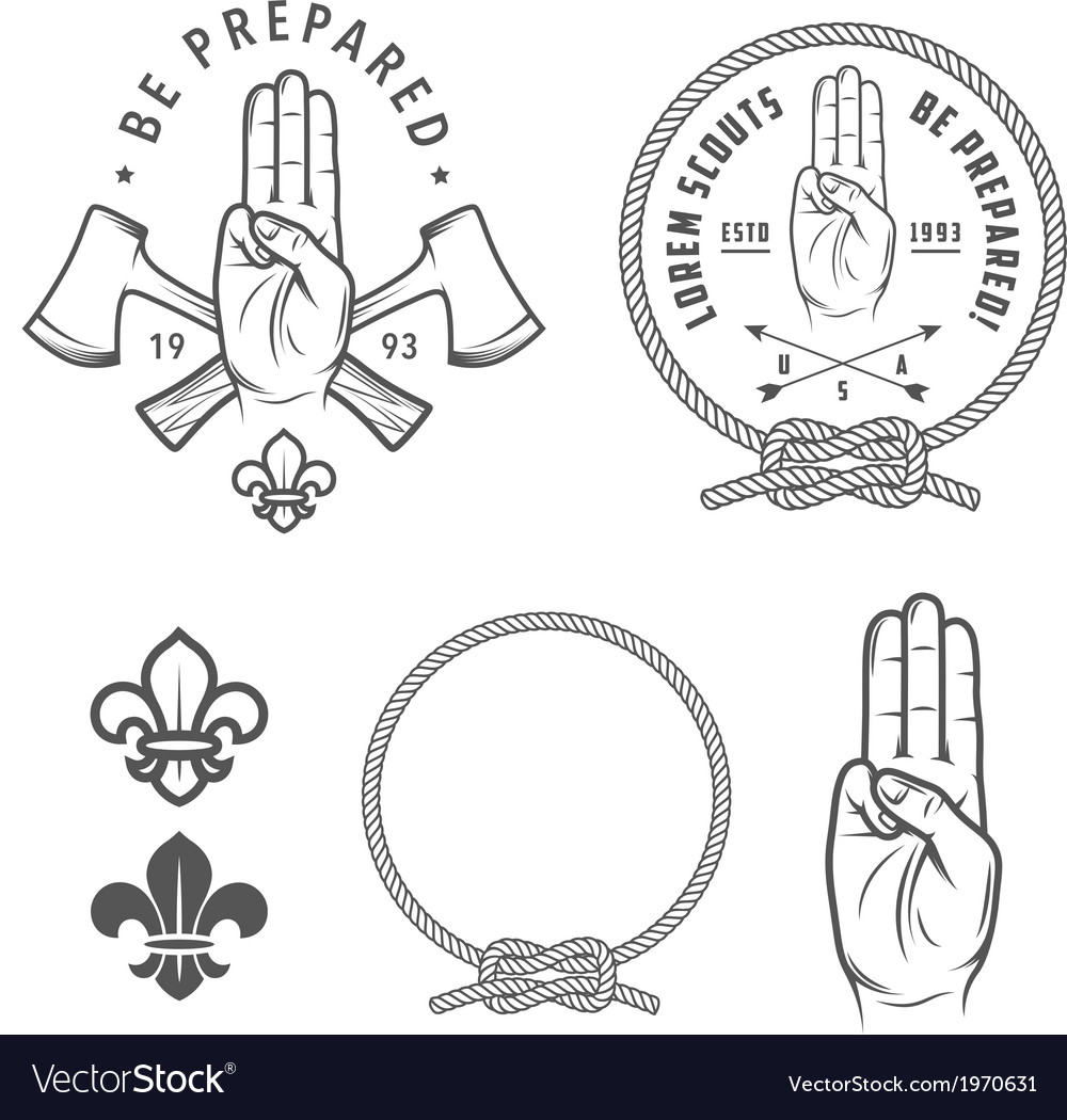 Scout symbols and design elements vector | Price: 1 Credit (USD $1)