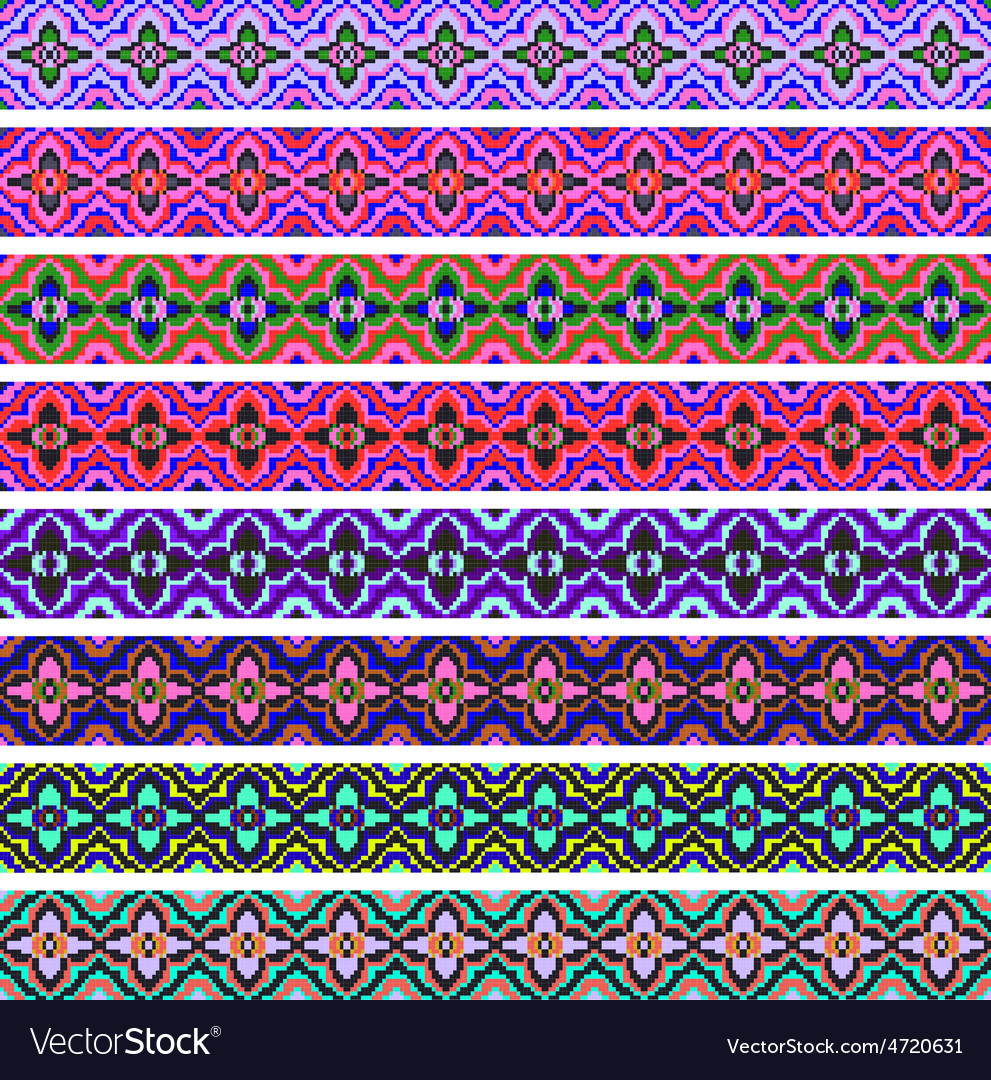 Set of ornamental strips of colored vector   Price: 1 Credit (USD $1)