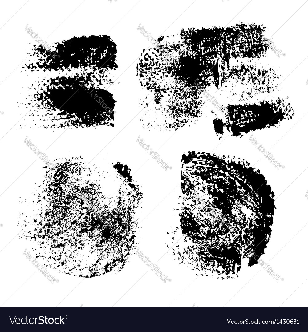 Swabs and prints of paint textured paper vector | Price: 1 Credit (USD $1)