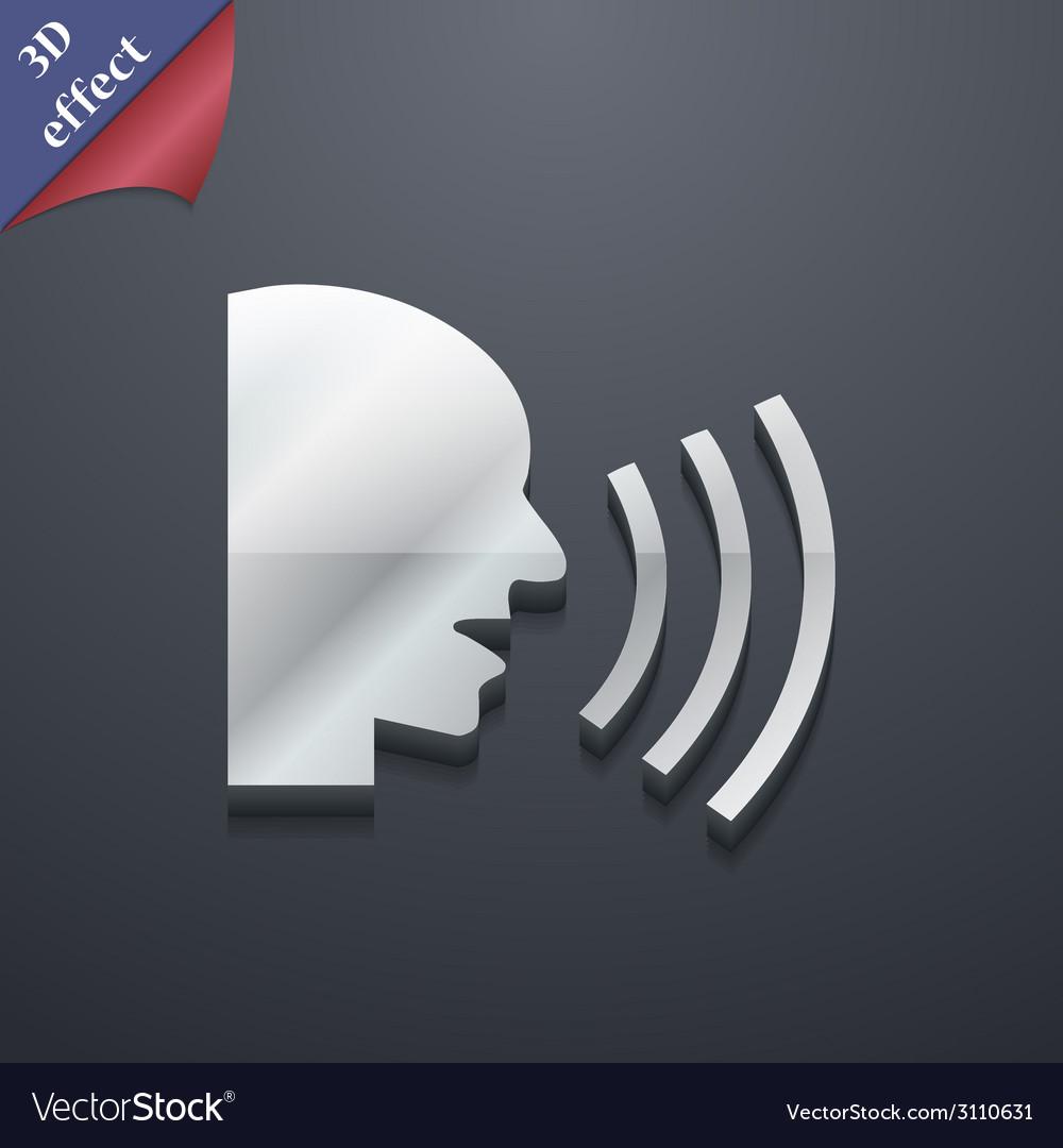 Talking icon symbol 3d style trendy modern design vector | Price: 1 Credit (USD $1)