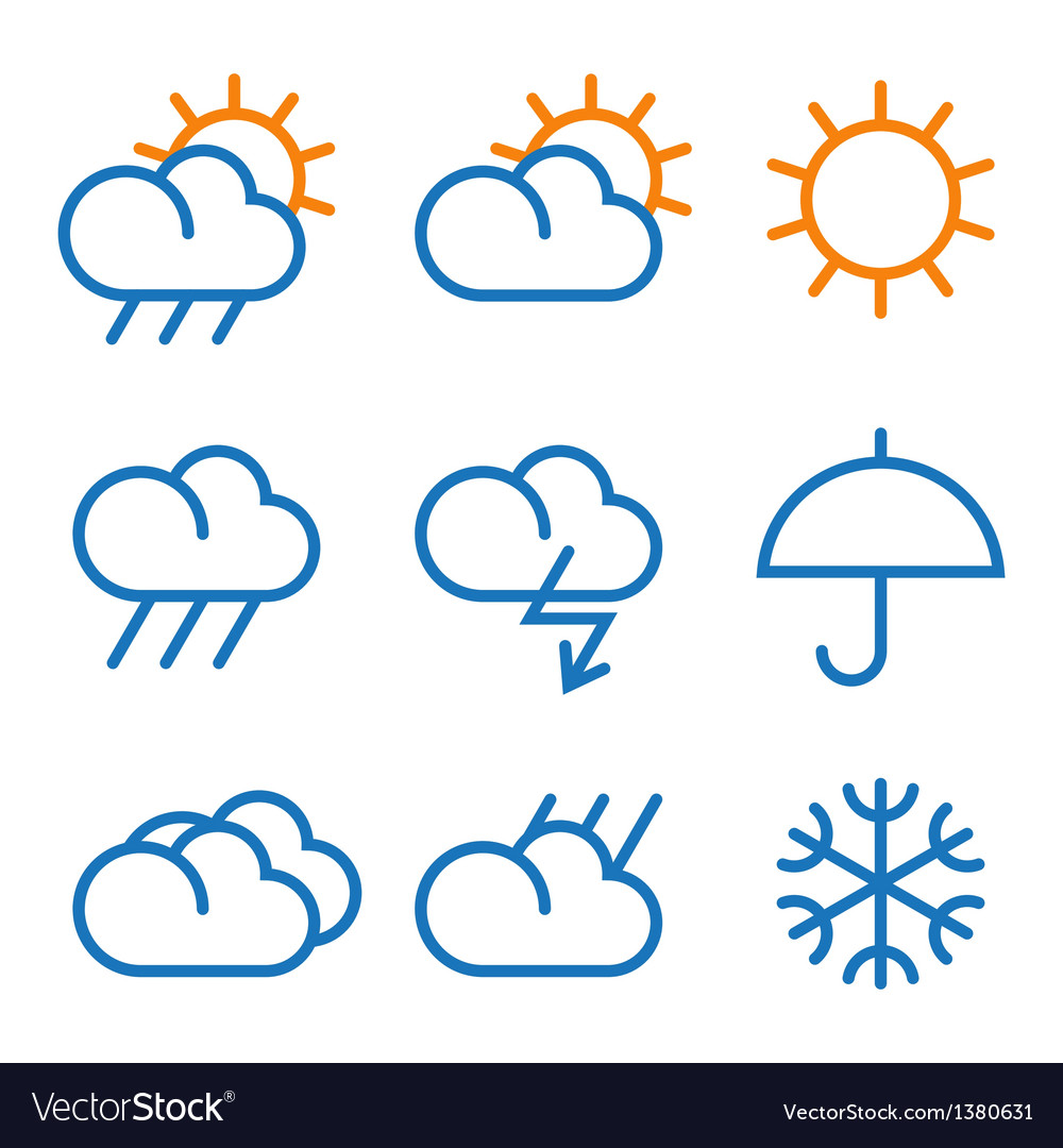 Weather signs vector | Price: 1 Credit (USD $1)