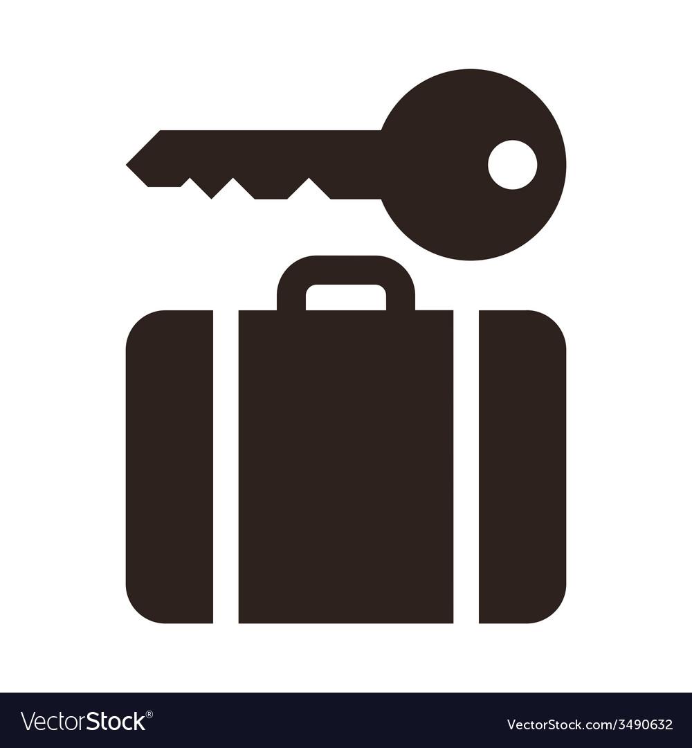 Baggage storage - travel icon vector | Price: 1 Credit (USD $1)