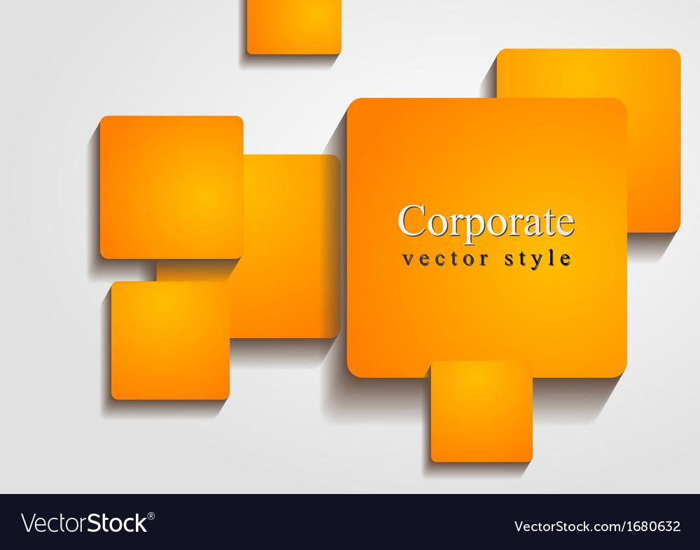 Bright orange squares design vector | Price: 1 Credit (USD $1)