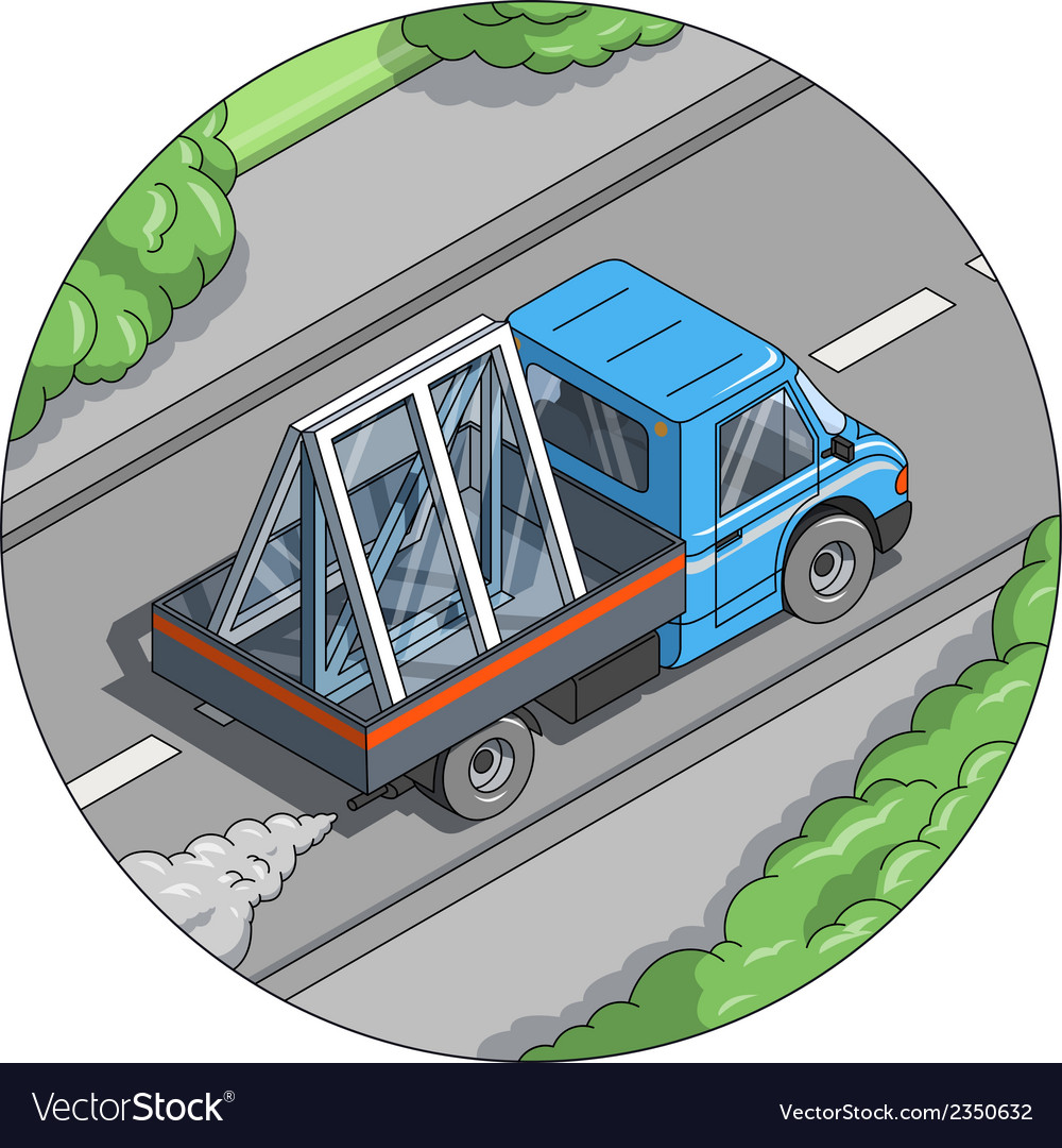 Car carry window vector | Price: 1 Credit (USD $1)