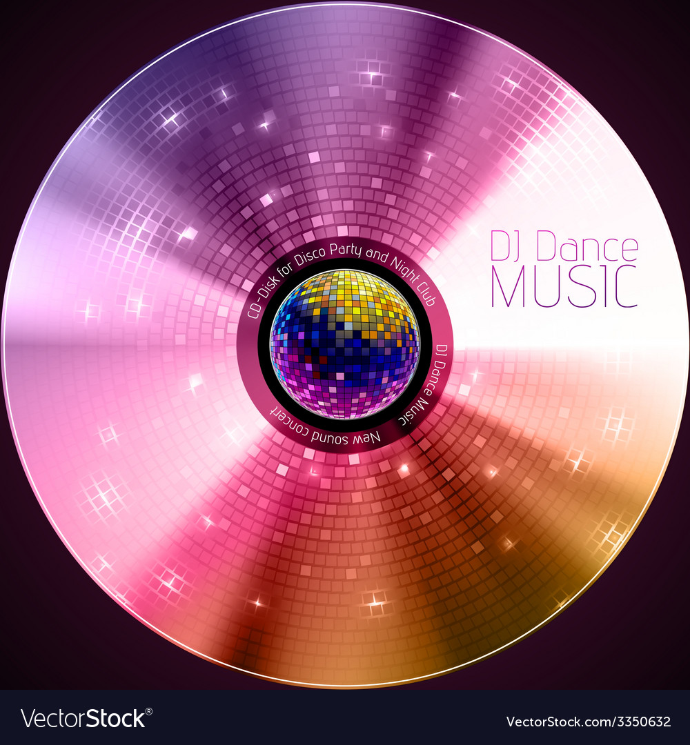Disco abstract background record or disk vector   Price: 1 Credit (USD $1)