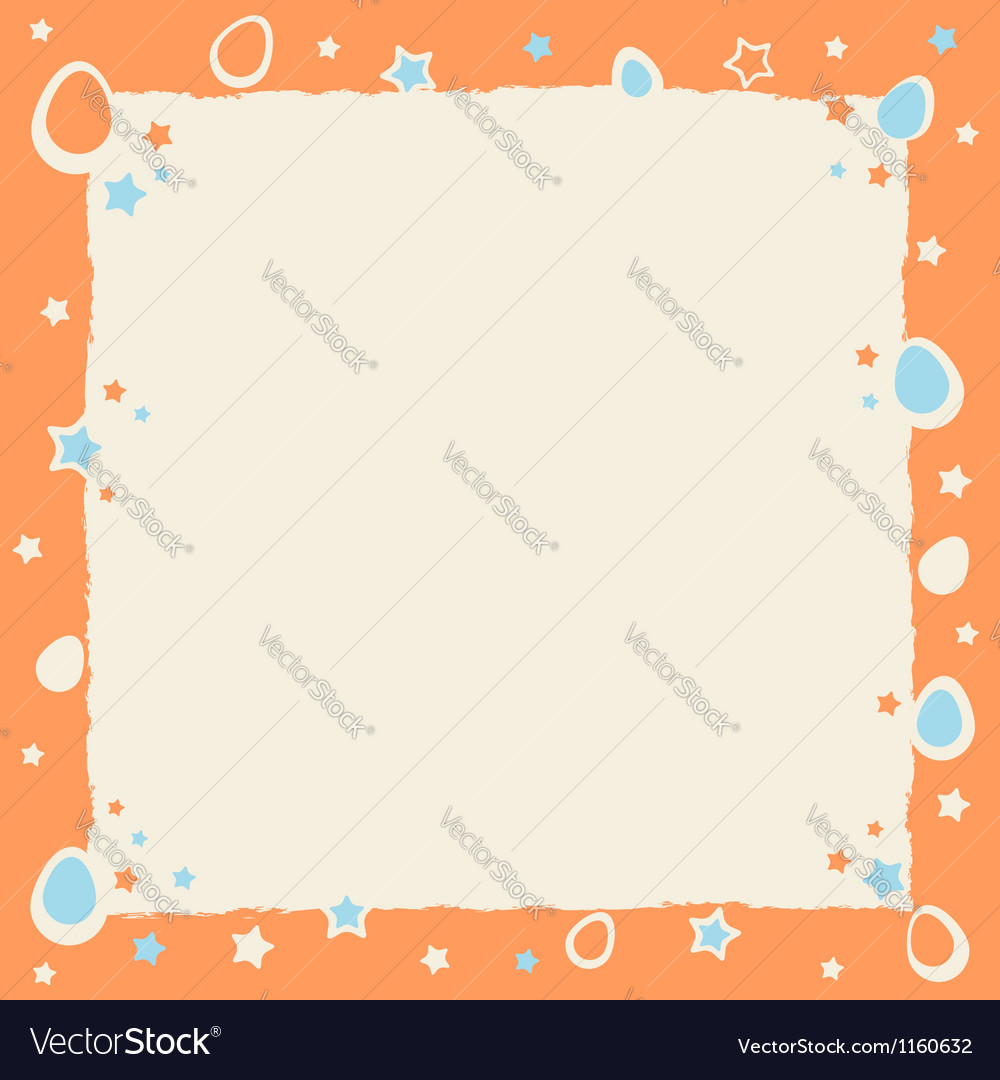 Easter eggs colorful frame with grunge borders vector | Price: 1 Credit (USD $1)
