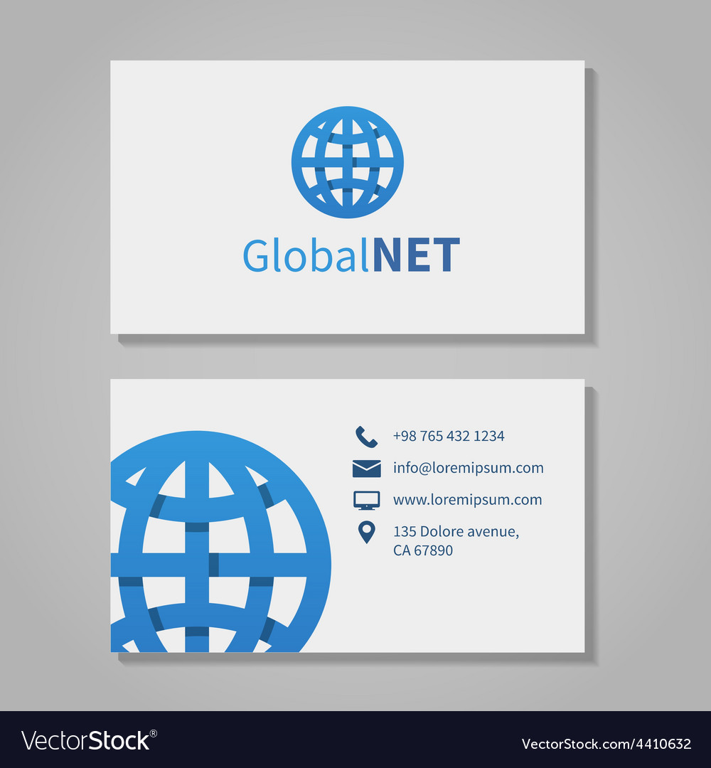 Global corporation business card vector | Price: 1 Credit (USD $1)