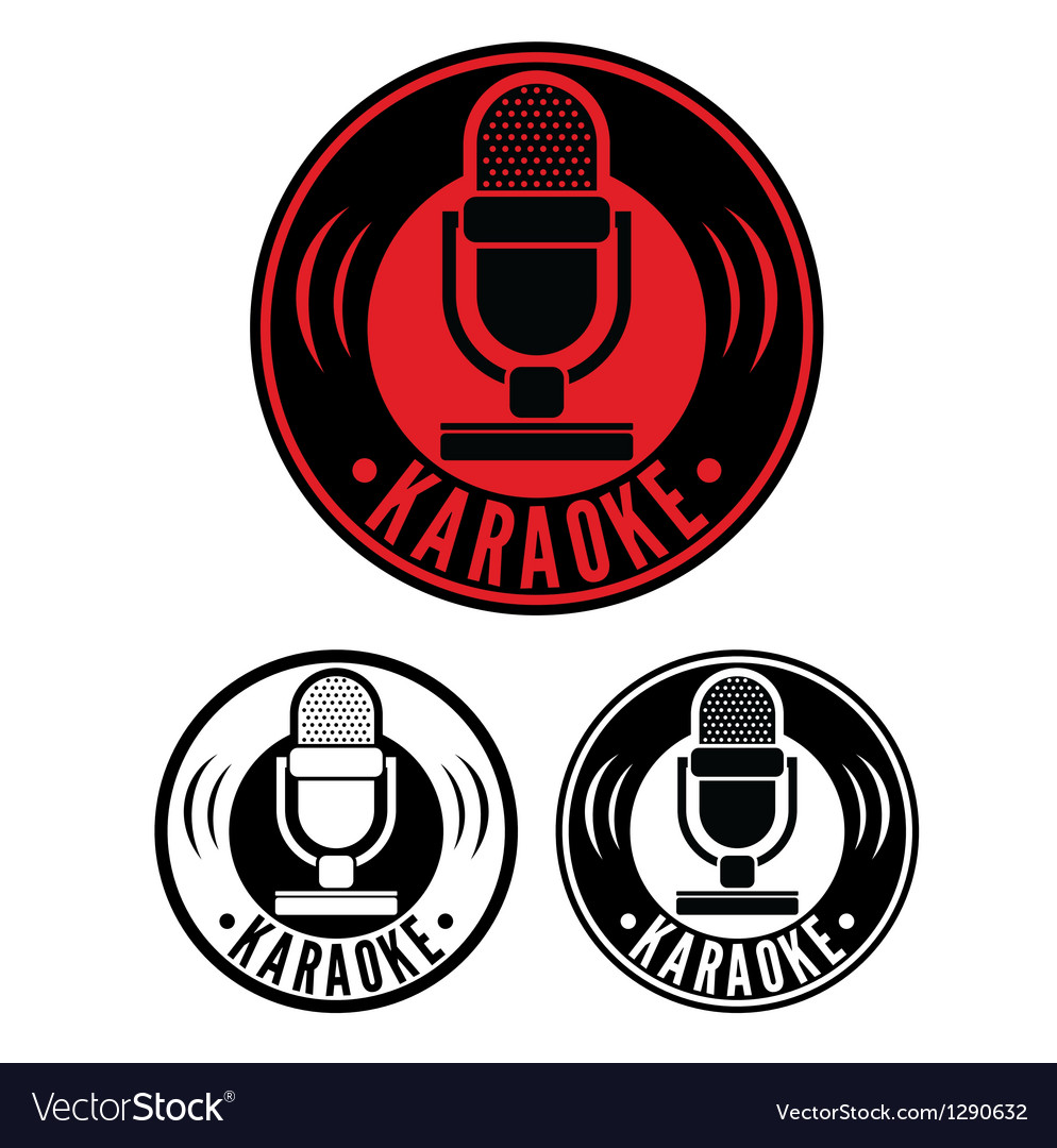 Karaoke microphone symbol vector | Price: 1 Credit (USD $1)