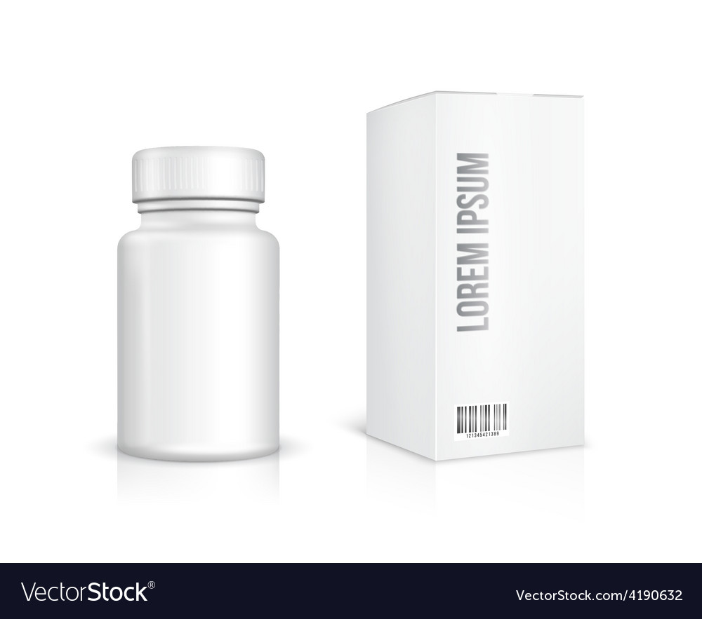 Medicine bottle on white background vector | Price: 1 Credit (USD $1)