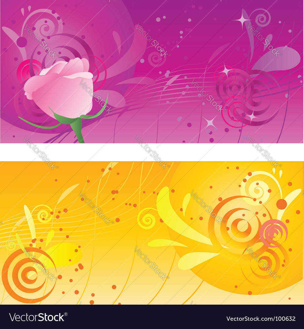 Pretty backgrounds with swirl design vector | Price: 1 Credit (USD $1)