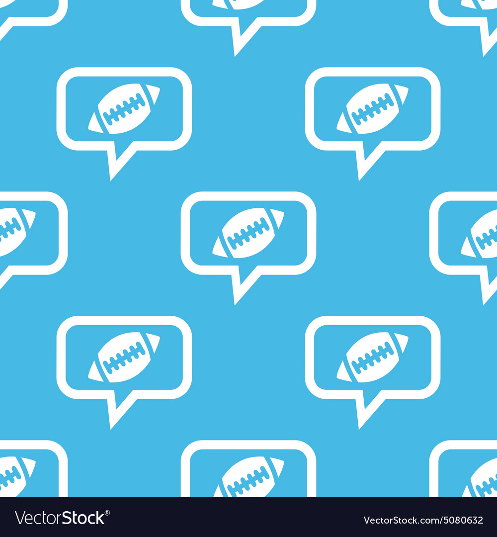 Rugby message pattern vector