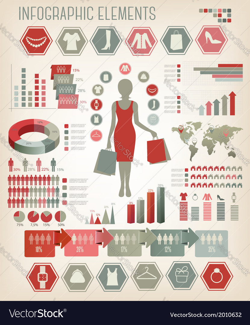 Shopping infographics vector | Price: 1 Credit (USD $1)
