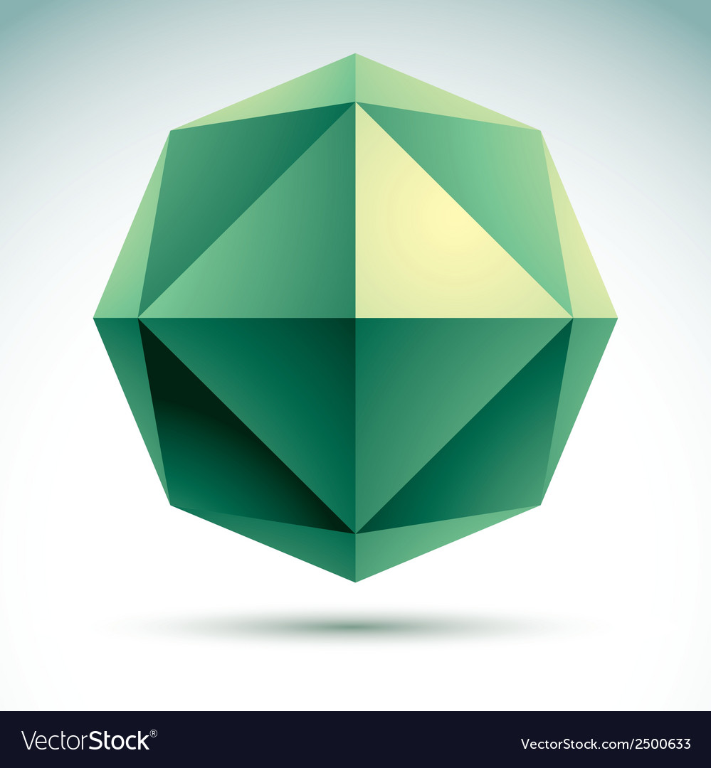 Abstract 3d origami polygonal object geometric vector | Price: 1 Credit (USD $1)