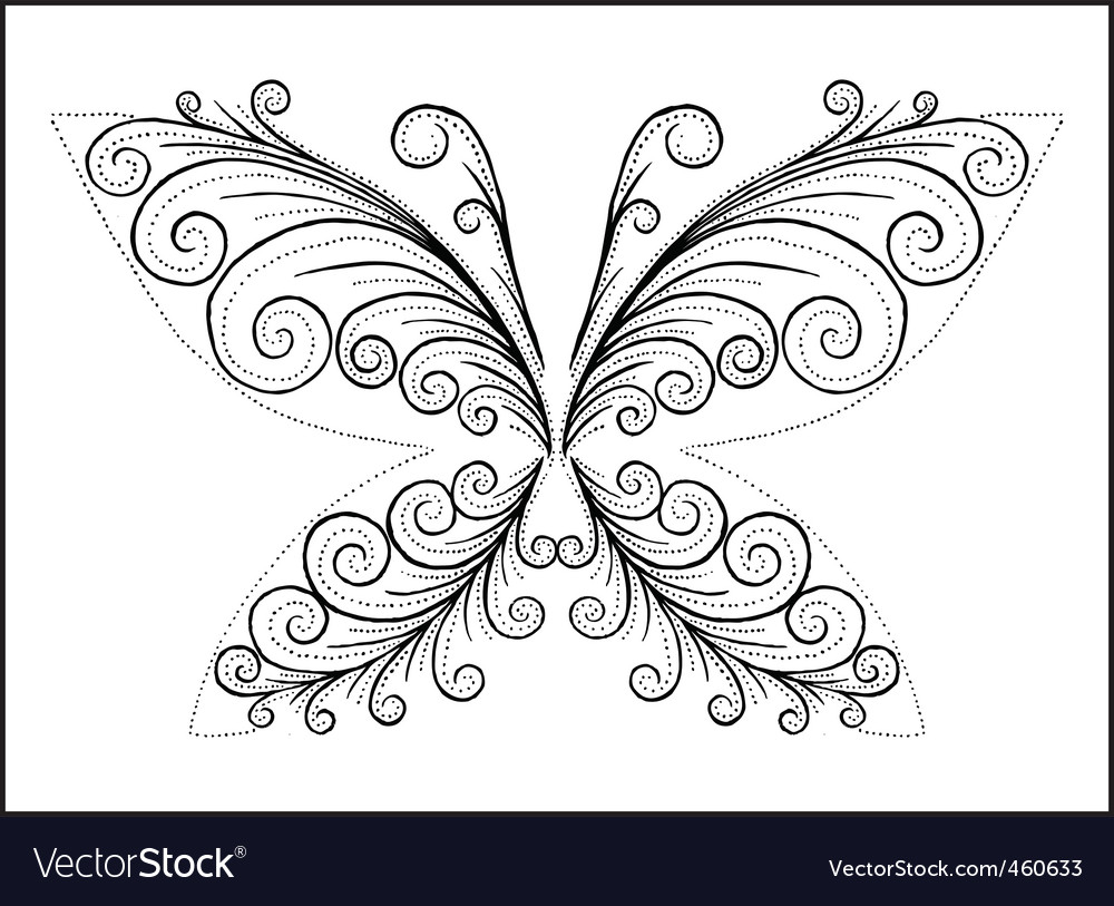 Abstract black butterfly vector | Price: 1 Credit (USD $1)