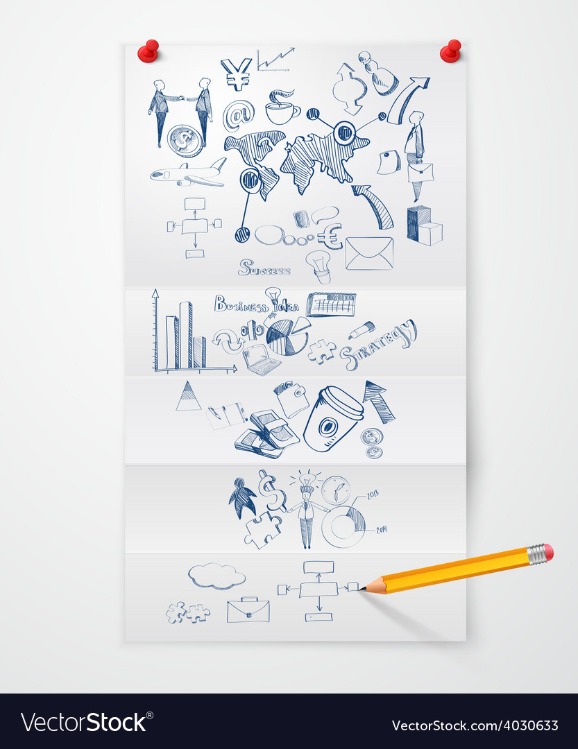 Business doodle paper sheet vector | Price: 1 Credit (USD $1)