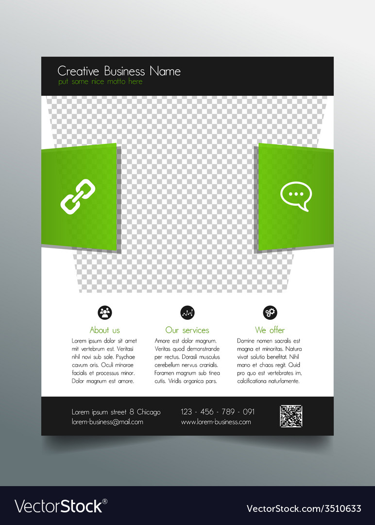 Business flyer template - fresh and modern design vector | Price: 1 Credit (USD $1)