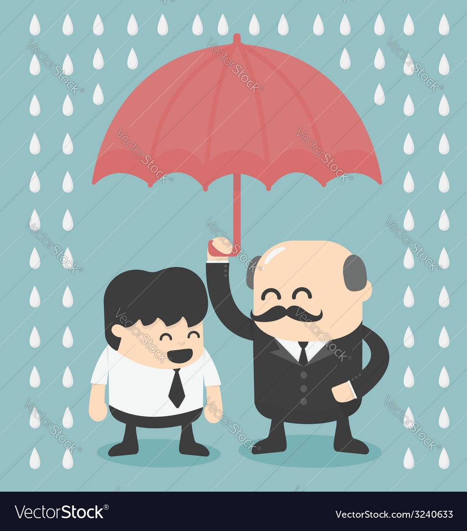 Businessman with umbrella vector | Price: 1 Credit (USD $1)