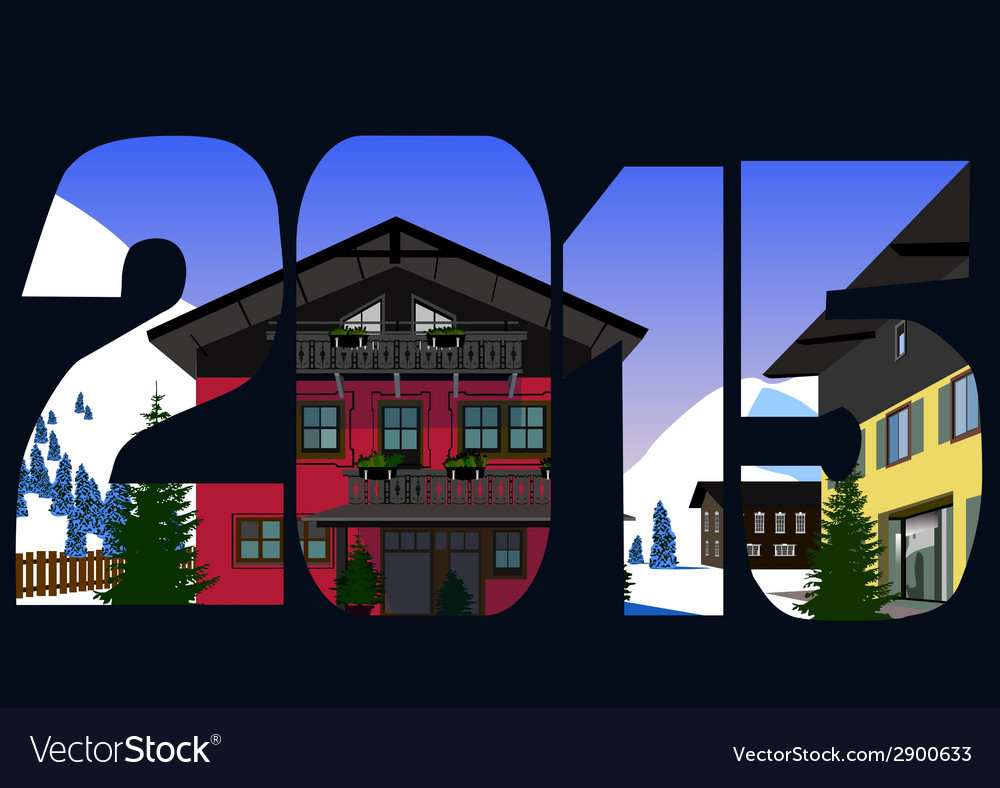 Christmas alps 2015 vector | Price: 1 Credit (USD $1)