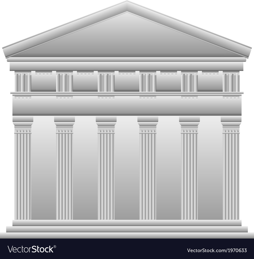 Doric greek temple vector | Price: 1 Credit (USD $1)