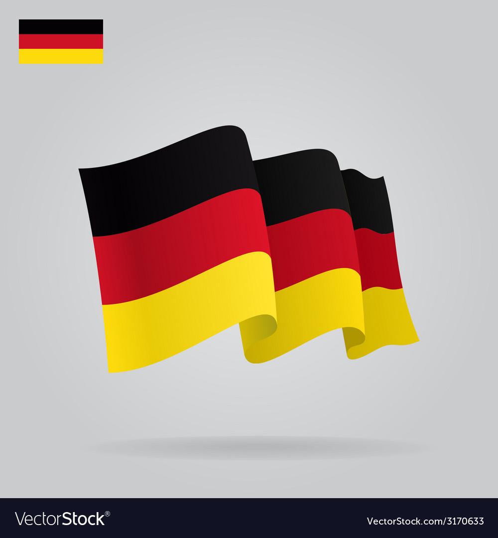 Flat and waving german flag vector | Price: 1 Credit (USD $1)