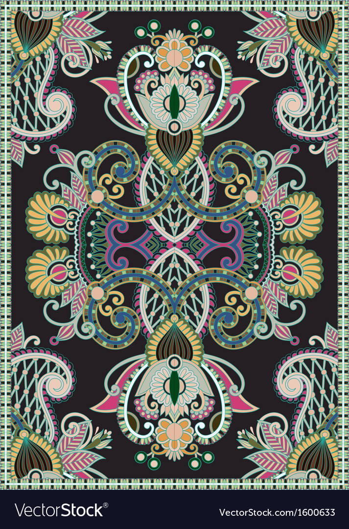 Floral ornamental seamless carpet vector | Price: 1 Credit (USD $1)