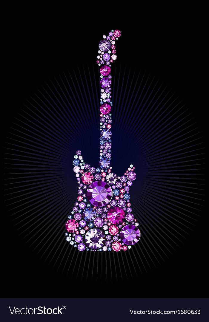 Gem guitar vector | Price: 1 Credit (USD $1)