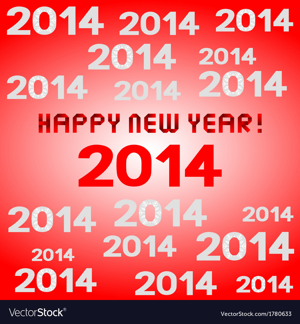 Hny 2014 vector | Price: 1 Credit (USD $1)