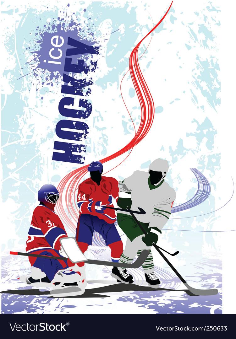 Hockey poster vector | Price: 1 Credit (USD $1)