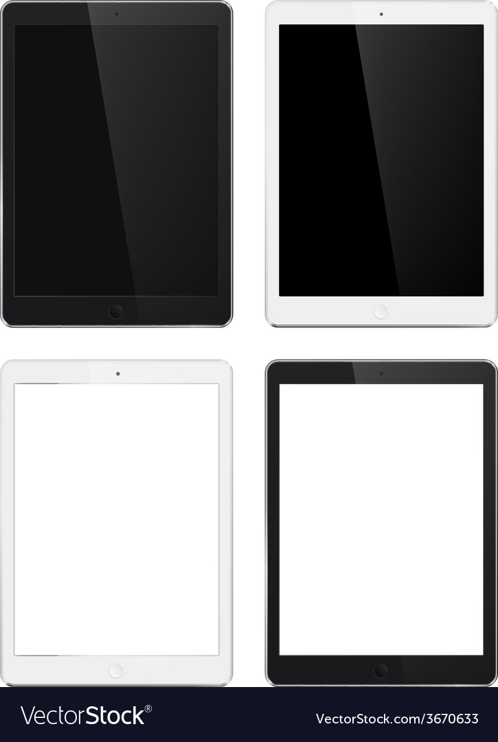 Tablet set vector | Price: 1 Credit (USD $1)