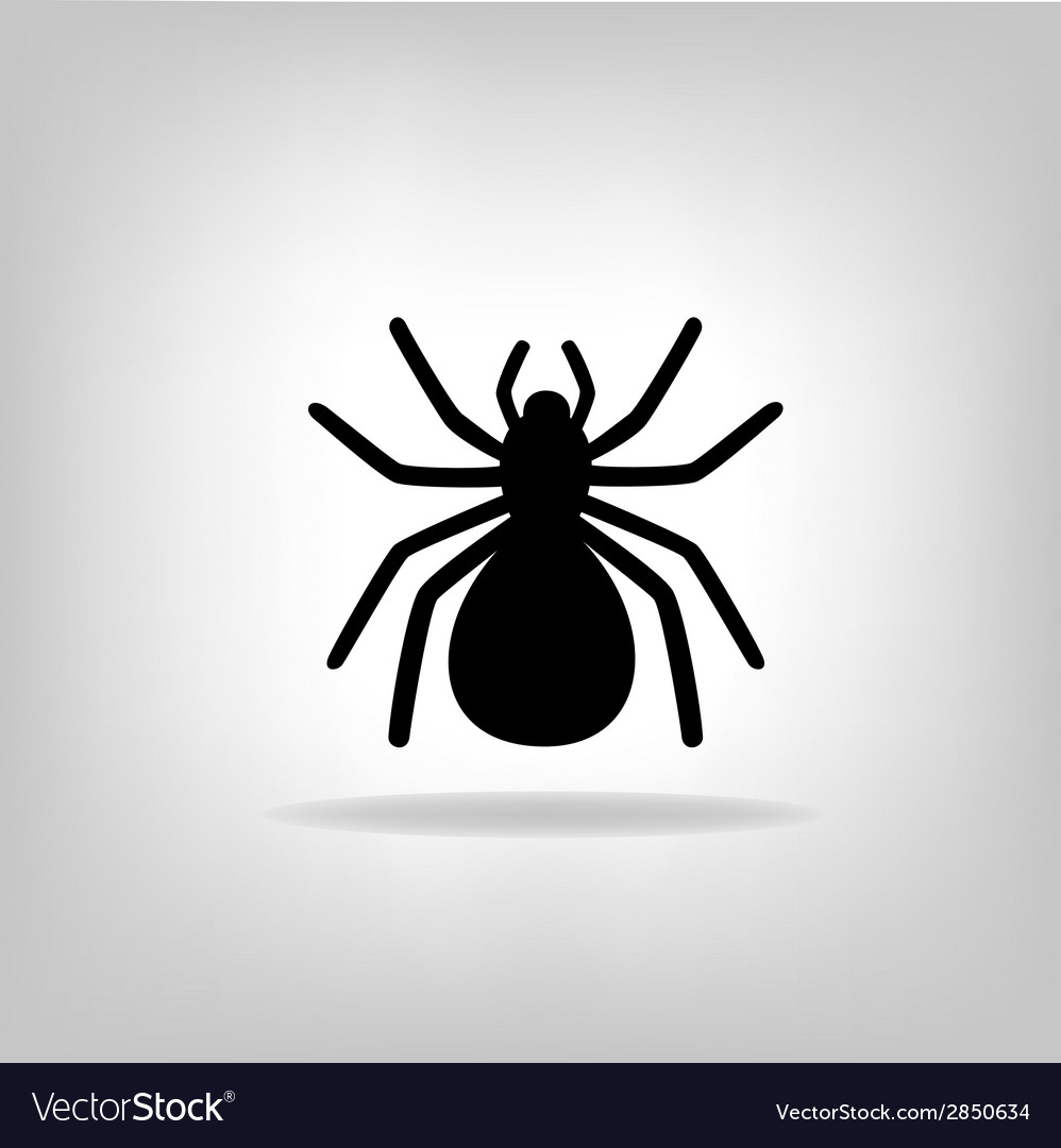 Black spider on a white background vector | Price: 1 Credit (USD $1)