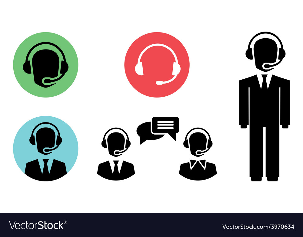 Call center icons vector   Price: 1 Credit (USD $1)