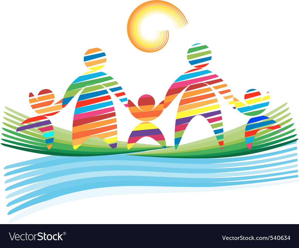 Colorful family vector | Price: 1 Credit (USD $1)