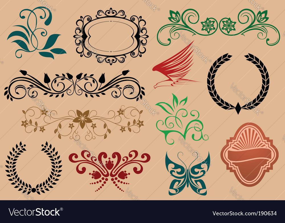 Decorative symbols vector | Price: 1 Credit (USD $1)