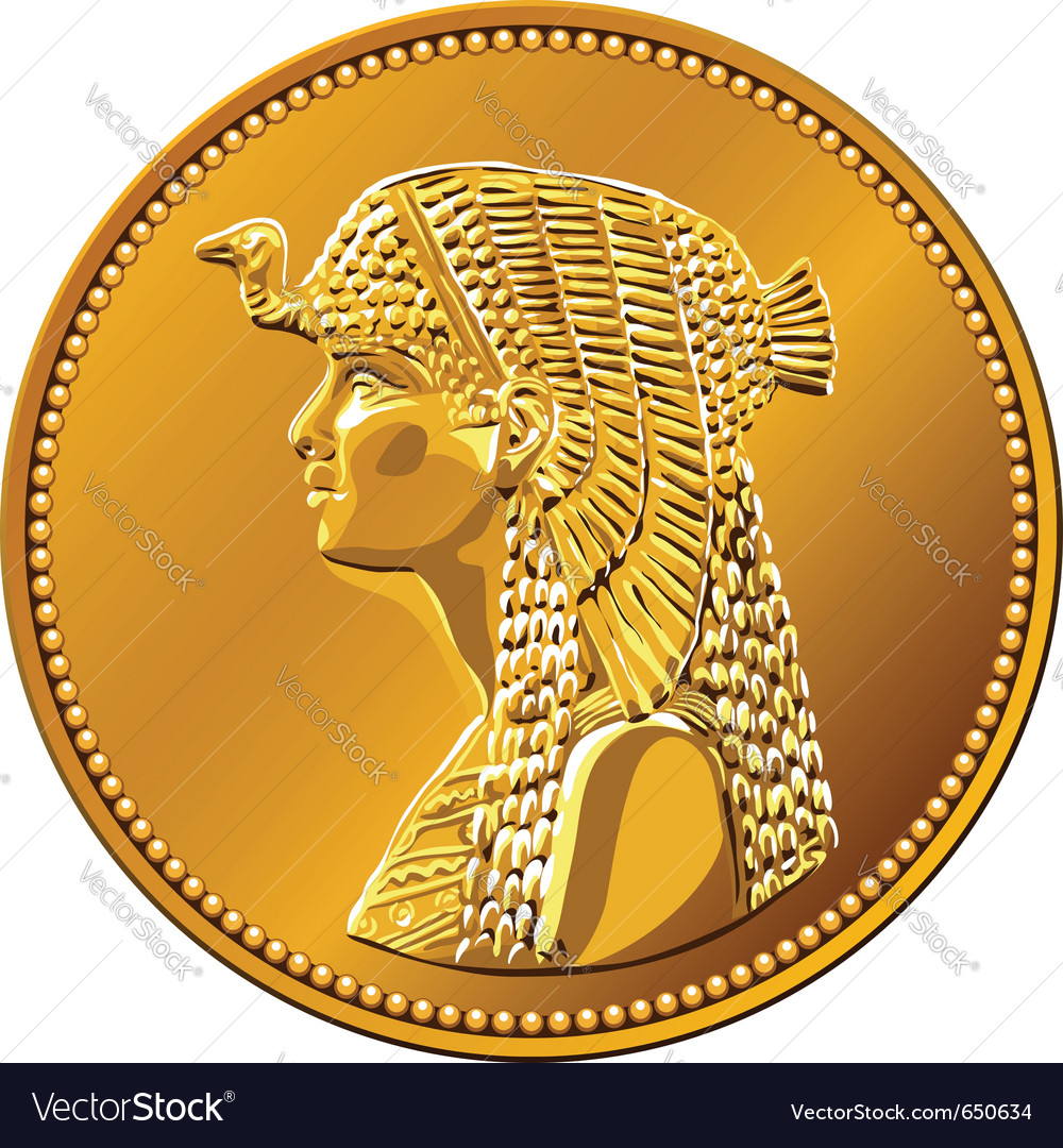 Egypt fifty piastres coin vector | Price: 1 Credit (USD $1)
