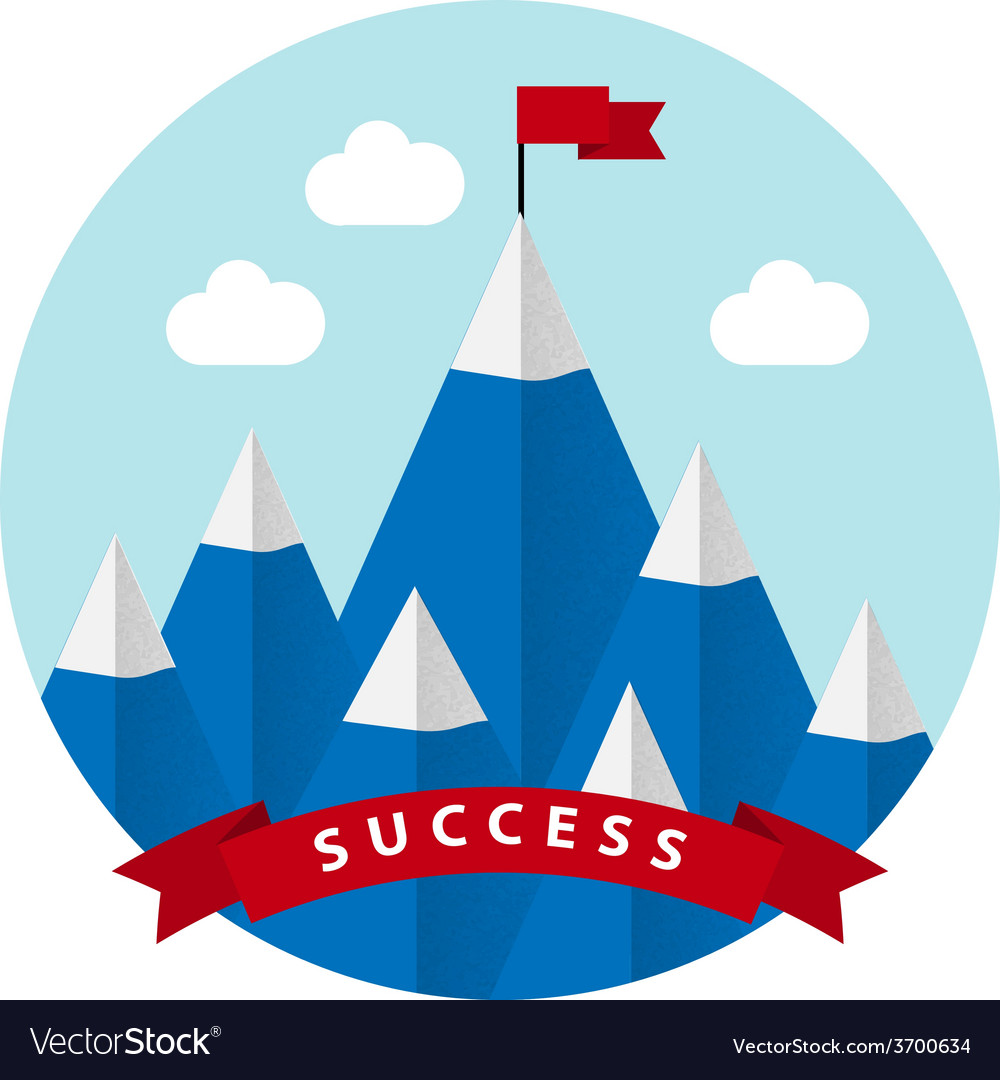 Flat design with success symbol vector | Price: 1 Credit (USD $1)