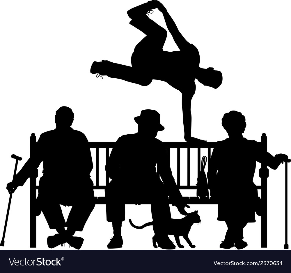 Park bench parkour vector | Price: 1 Credit (USD $1)