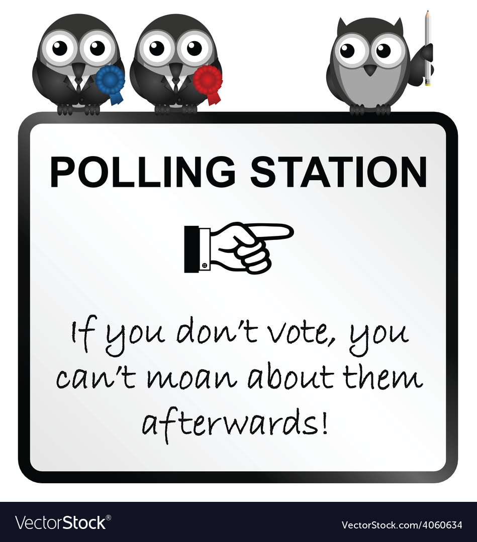 Polling station sign vector | Price: 1 Credit (USD $1)