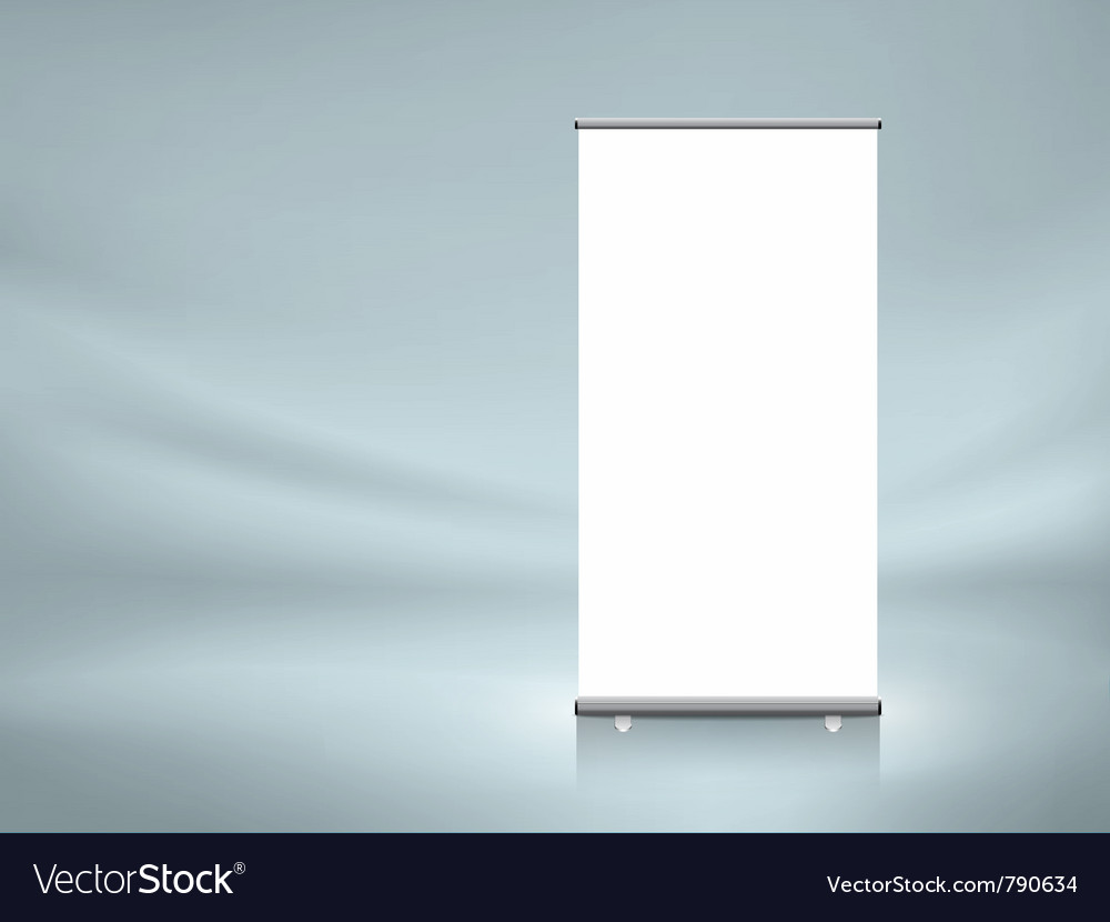 Roll up banner vector | Price: 1 Credit (USD $1)
