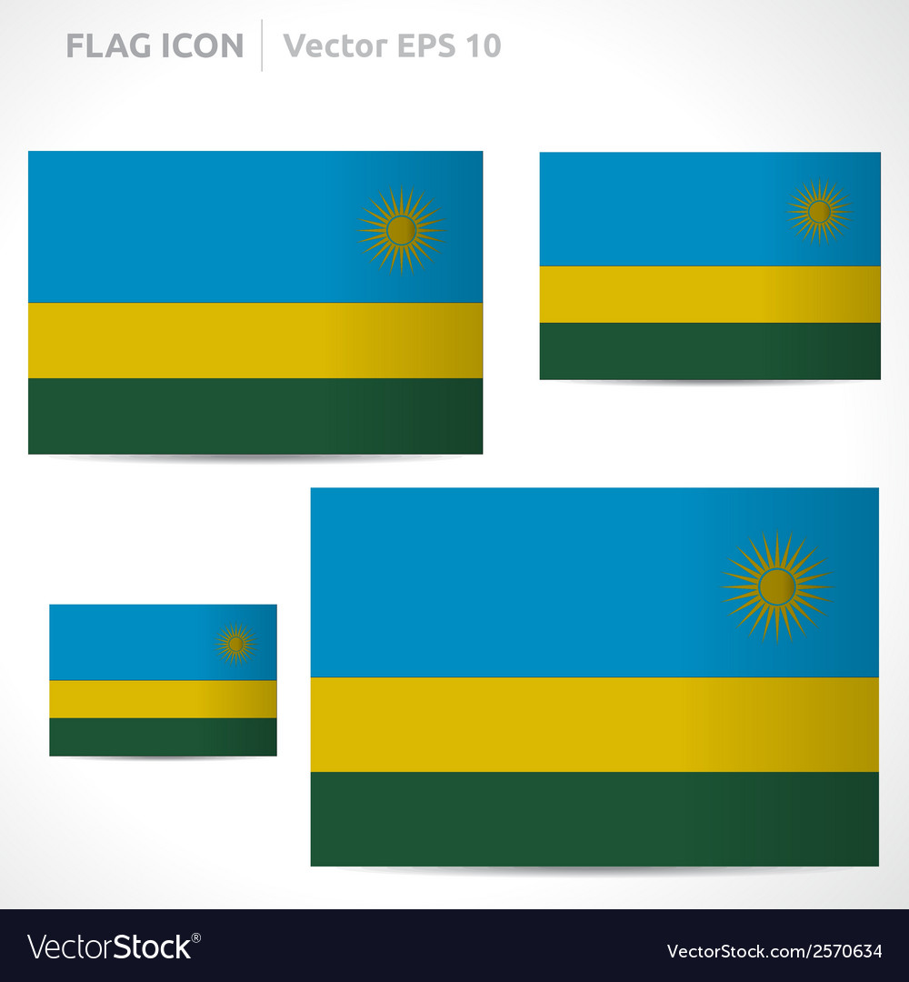 Rwanda flag template vector | Price: 1 Credit (USD $1)