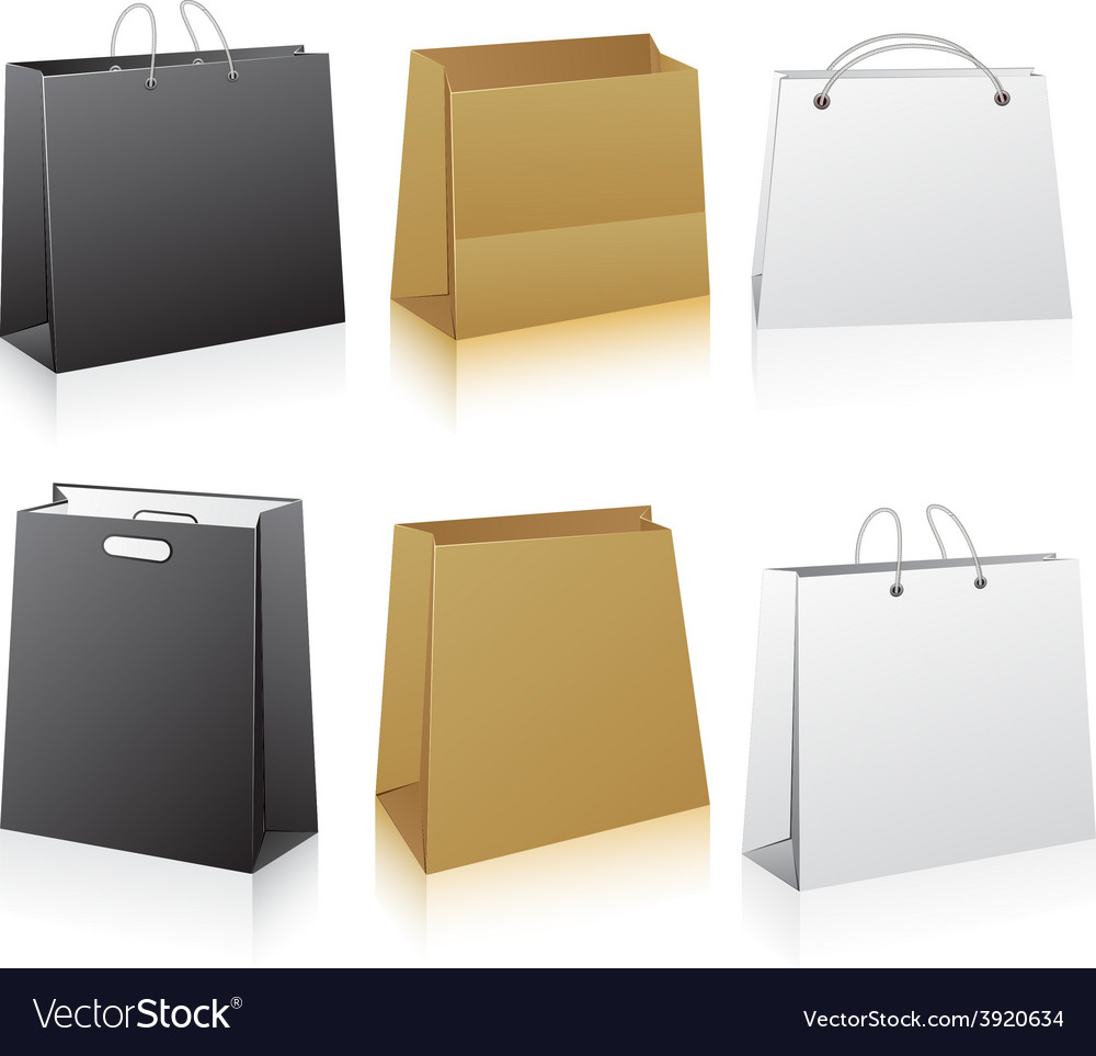 Set of shopping bags vector | Price: 1 Credit (USD $1)