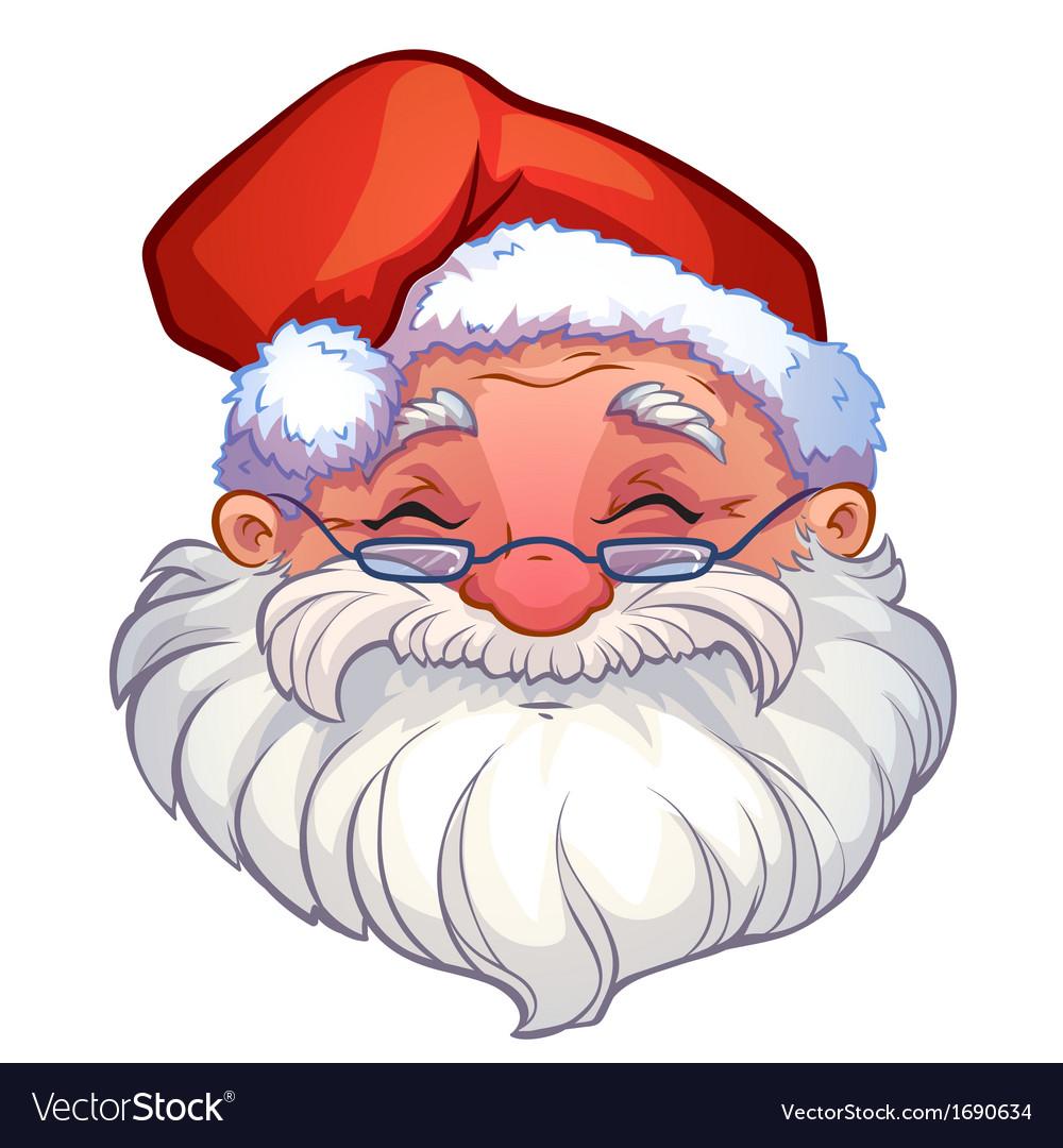 Smiling face of santa vector   Price: 1 Credit (USD $1)