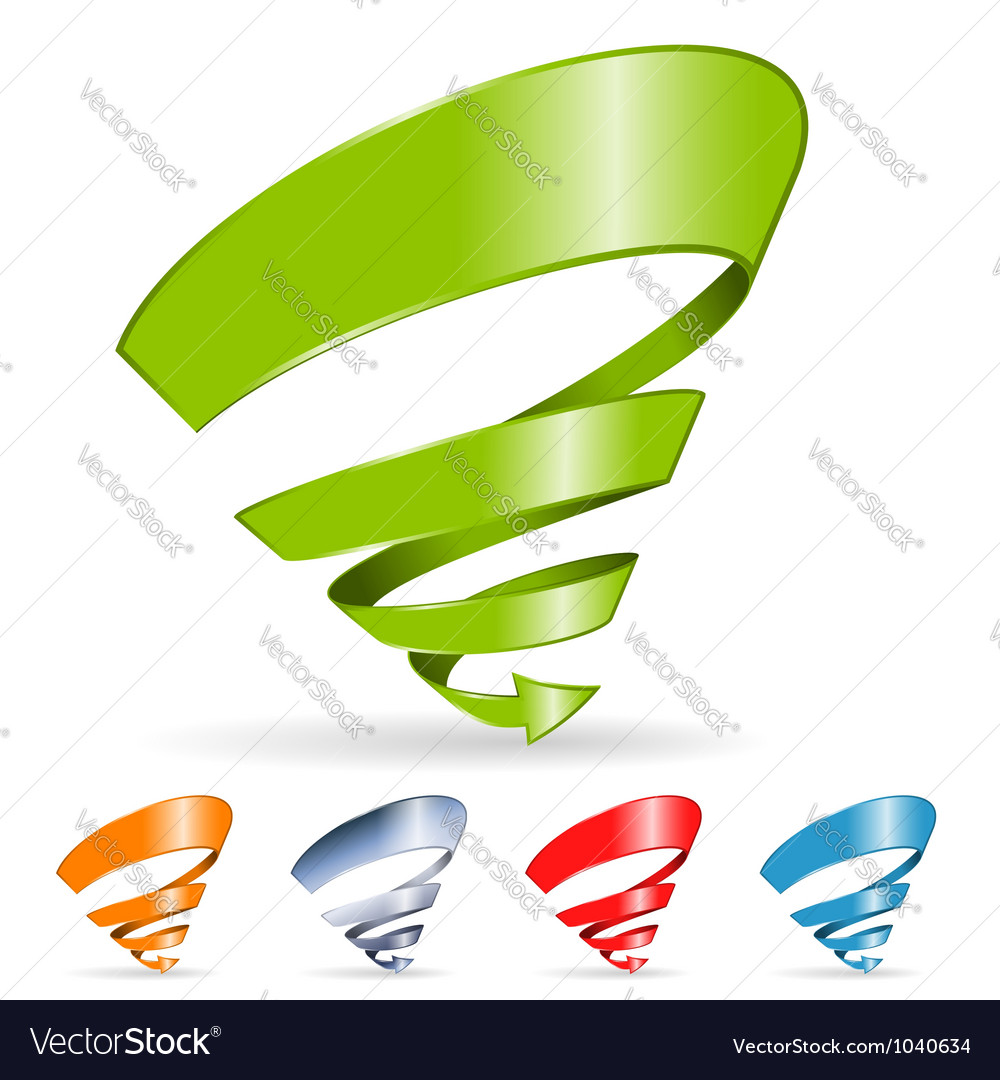 Spiral arrow vector | Price: 1 Credit (USD $1)