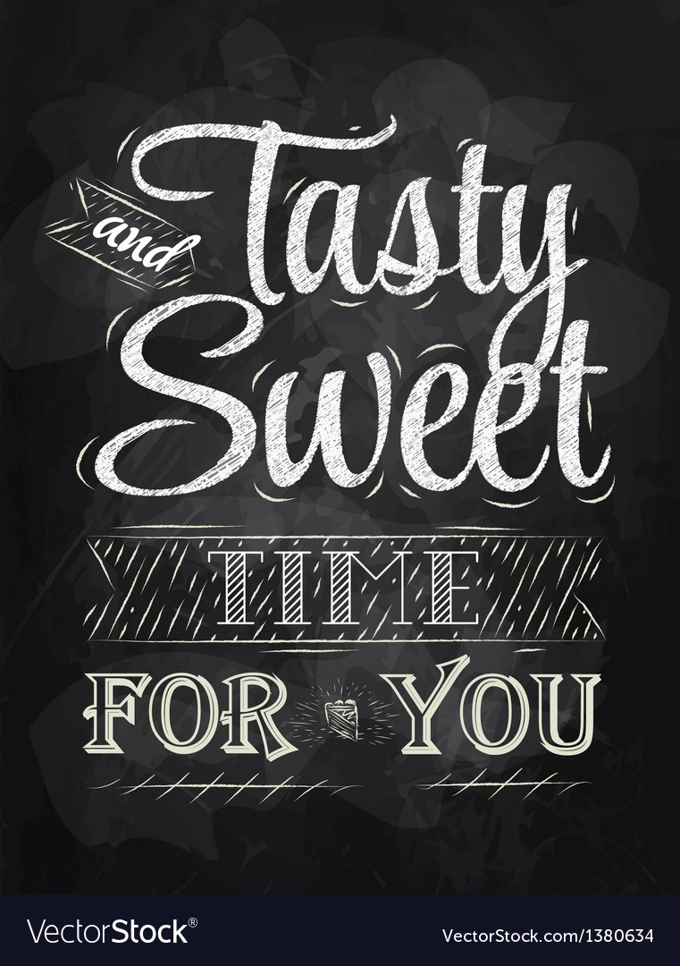 Tasty and sweet time for you vector | Price: 1 Credit (USD $1)